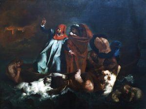 La barca de Dante (1890), Juan Francisco González. Colección MNBA
